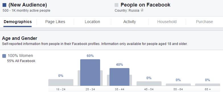 Целевая аудитория рекламы в Фейсбуке